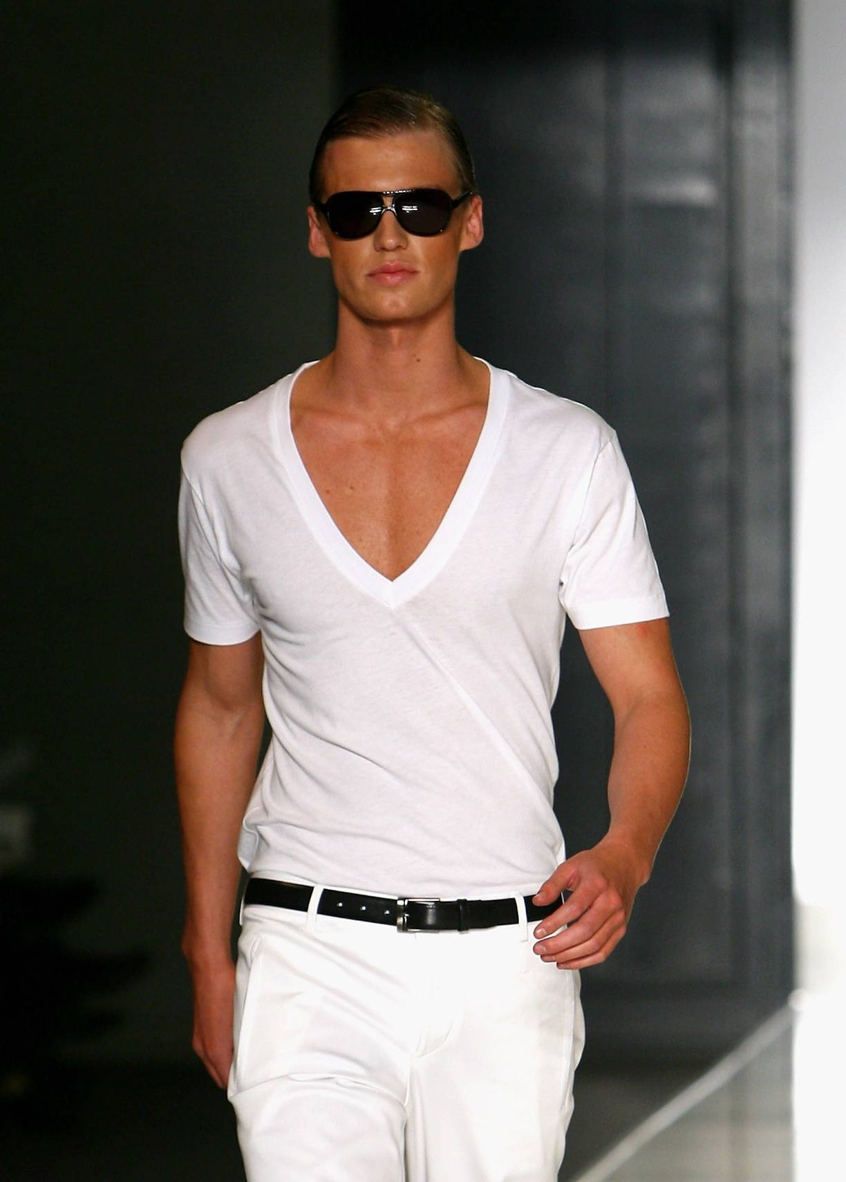 White on White fashion trend for men
