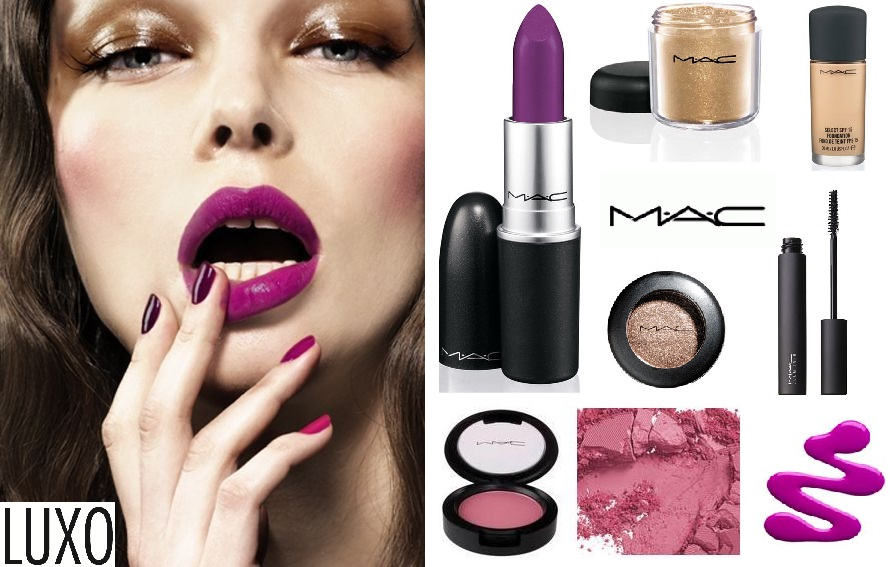 Get the purple look with MAC and LUXO