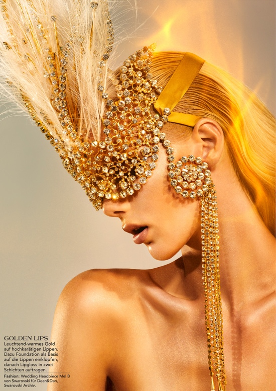 Go for Gold Beauty editorial LUXO