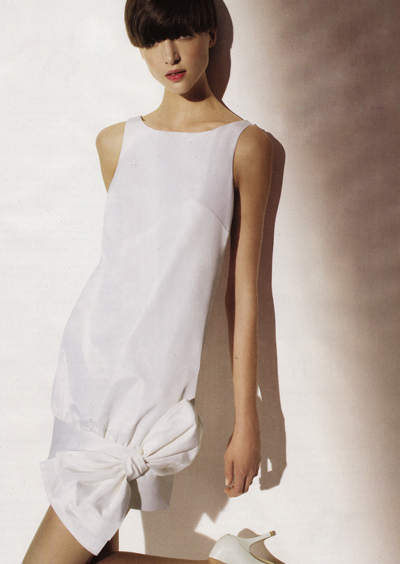 The Little White Dress fashion trend spring 2012