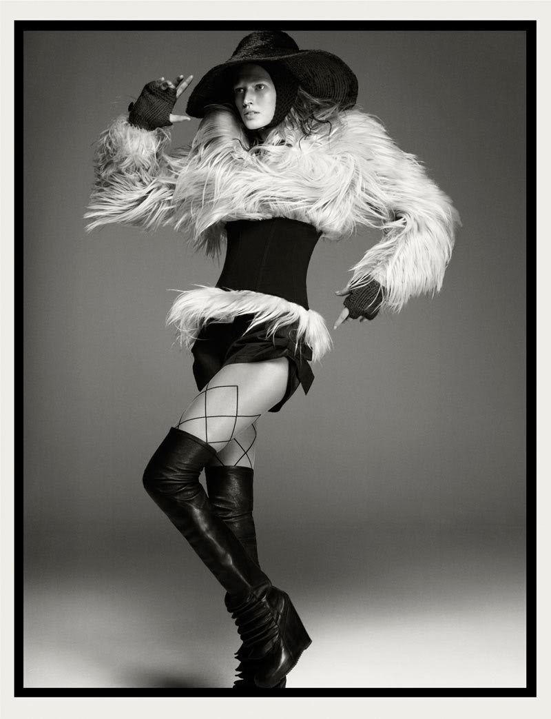 Black and white dramatic fashion editorial
