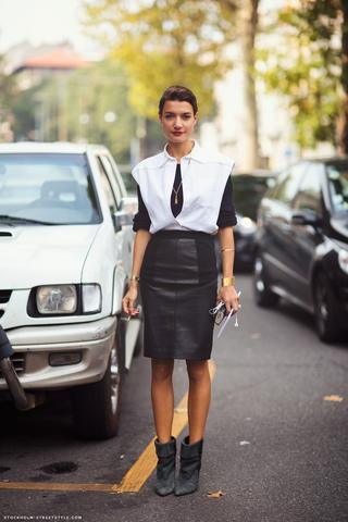 Leather Skirt Trend 2013