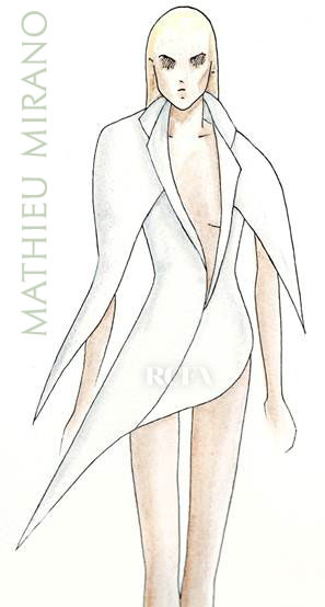 Lady Gaga in mathieu mirano