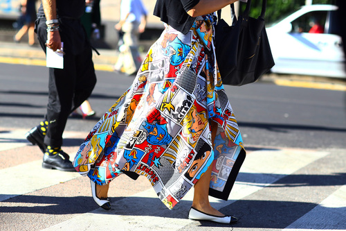 Cartoon Print Fashion Trend