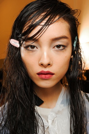 The wet look hair trend spring 2014