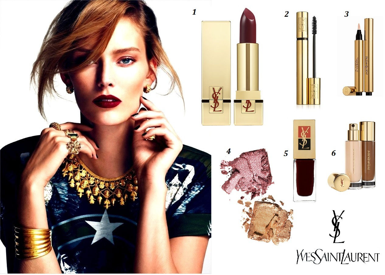 The YSL makeup look