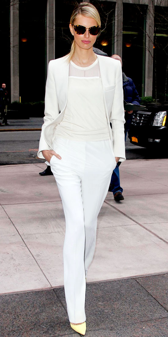 white colour trend fashion 2013