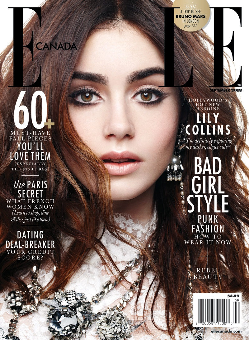Lilly Collins For Elle Canada