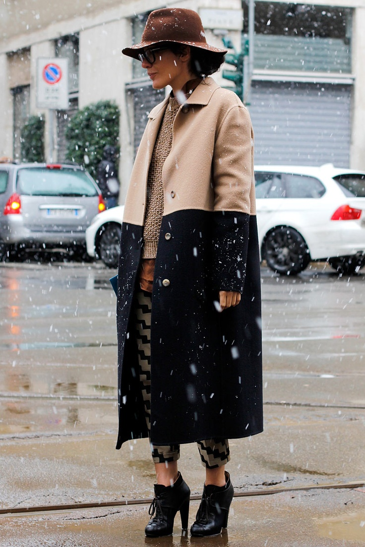 Two Toned Coat trend