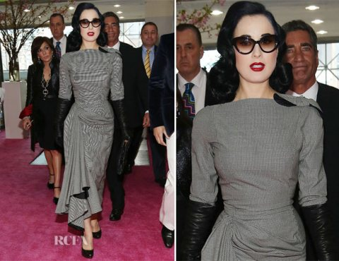 Dita Von Teese in John Galliano