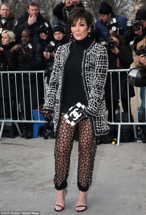 Kris Jenner Takes Paris for Chanel show!