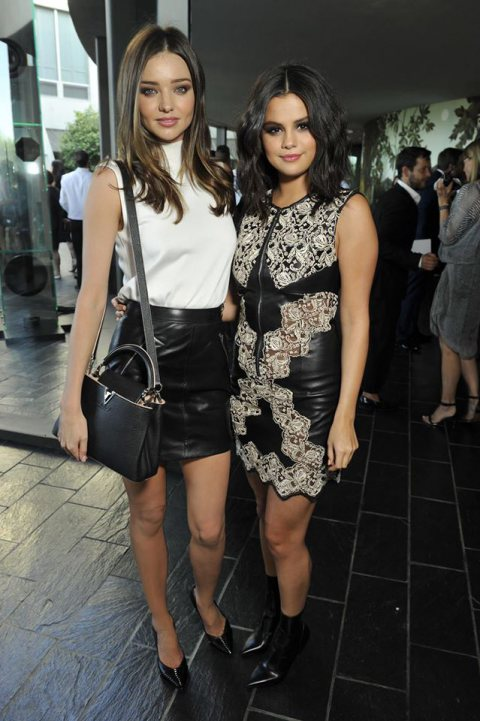Miranda Kerr and Selena Gomes at The Louis Vuitton Show