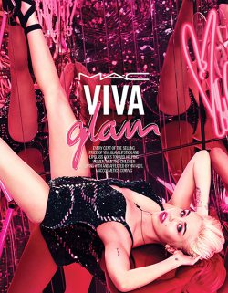 Miley Cyrus for New MAC Viva Glam Campaign
