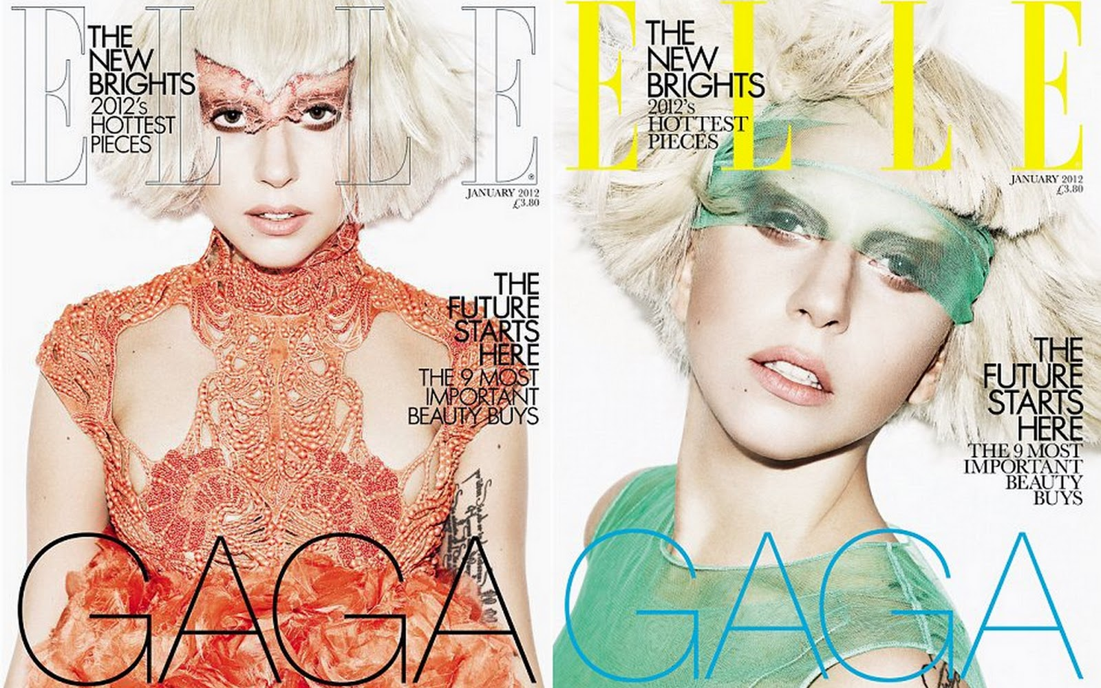 Lady Gaga Elle UK Jan 2012